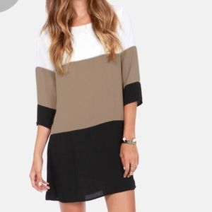Lulu colorblock shift dress